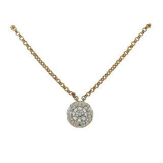 Memoire Yellow Gold Diamond Pendant Necklace