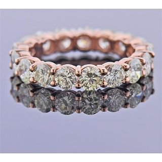14K Rose Gold 3.50ctw Diamond Eternity Band Ring