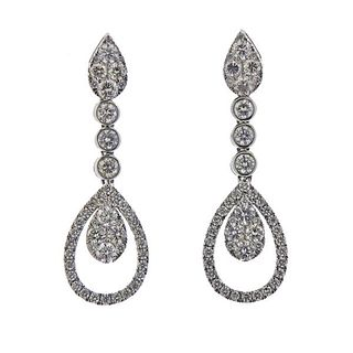 14K Gold Diamond Teardrop Earrings