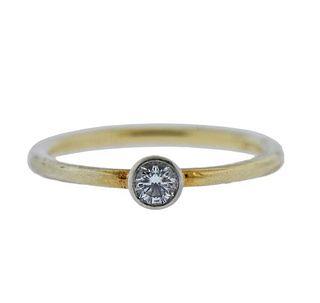 Tiffany & Co 18K Gold Platinum Diamond  Ring