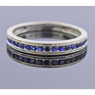14K Gold Sapphire Band Ring