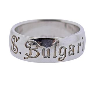 Bvlgari Bulgari Silver Save The Children Band Ring