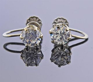 14k Gold Cubic Zirconia Earrings Settings