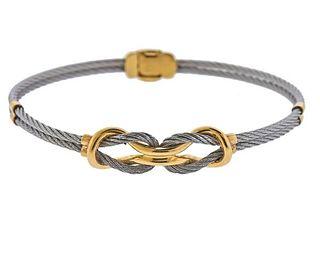 Charriol 18K Gold Steel Love Knot Bracelet