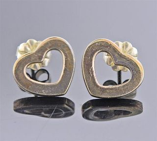 Tiffany & Co Silver Open Heart Earrings