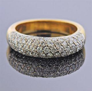 18K Two Tone Gold Diamond Band Ring