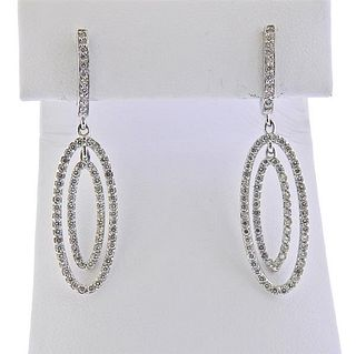 Barry Kronen 18k Gold Diamond Drop Earrings