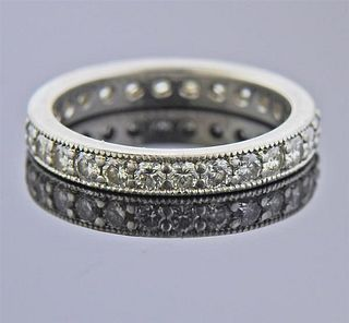 14K Gold Diamond Eternity Band Ring