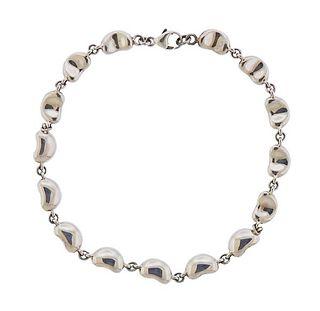 Tiffany & Co Elsa Peretti Silver Bean Bracelet