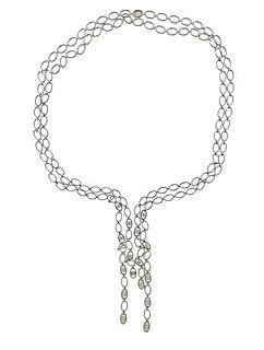 18K Gold Diamond Chain Necklace
