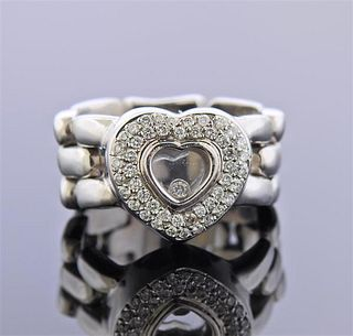 18K Gold Happy Diamond Heart Ring