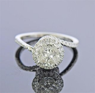 18k White Gold 1.65ctw Diamond Engagement Ring