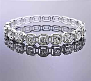 14k Gold 2.75ctw Diamond Bangle Bracelet
