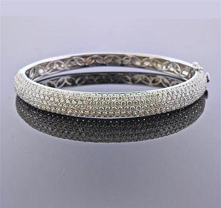18K Gold 6.12ctw Diamond Cable Bracelet
