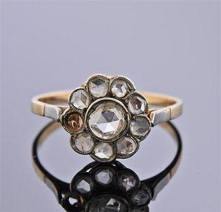 Antique 18K Gold Platinum Diamond Ring
