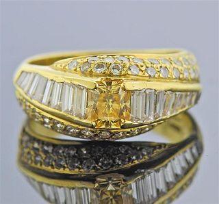 Diana Vincent 18K Gold Fancy White Diamond  Ring
