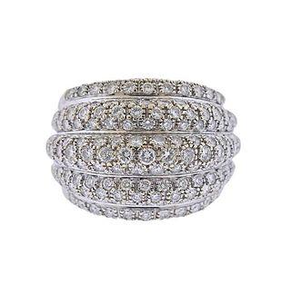 18k Gold 2.35ctw Diamond Dome Ring