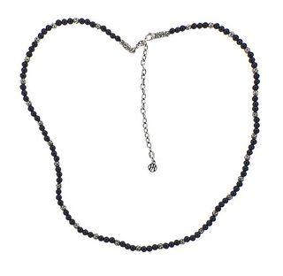 John Hardy Silver Onyx Bead Necklace