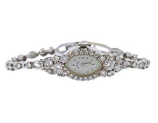 Hamilton 1950s 14k Gold Diamond Lady's Watch