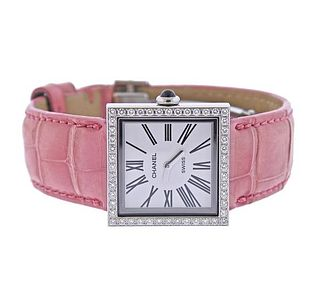 Chanel Mademoiselle Steel Diamond Lady's Watch