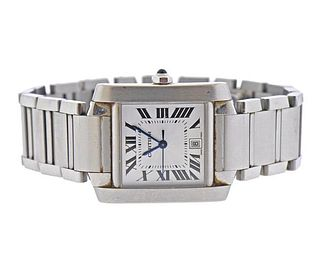 Cartier Tank Francaise Automatic Steel Watch 2302