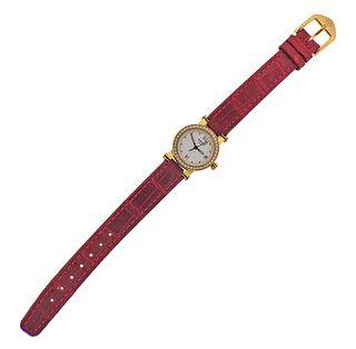Movado Vizio 18k Gold Diamond Quartz Lady's Watch
