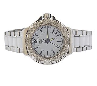 Tag Heuer Formula 1 Diamond Ceramic Steel Watch WAH1215