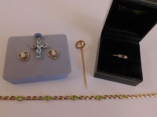 LOT 14K GOLD JEWELRY