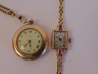 2 GOLD WATCHES