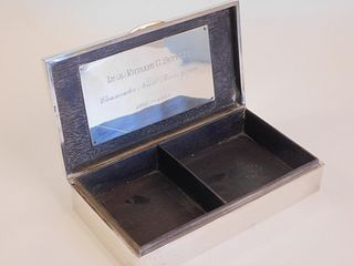 JAPANESE SILVER BOX - US NAVY