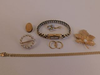 8 PIECES 14K GOLD JEWELRY