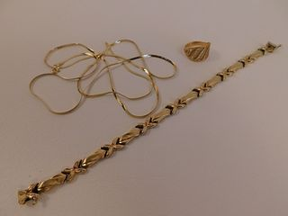 3 GOLD JEWELRY ITEMS