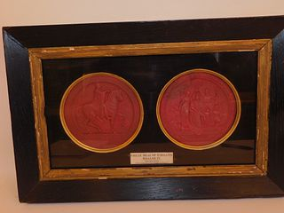1834 FRAMED GREAT SEALS OF ENGLAND