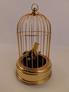SINGING BIRD IN CAGE AUTOMATON