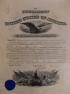 SIGNED WOODROW WILSON 1913 APPOINTMENT