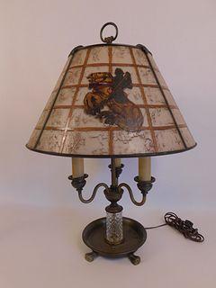 HANDEL MEDIEVAL PAINTED LAMP 7463