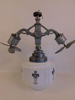 ART DECO GYRO CEILING LAMP & FANS