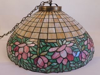 OLD LEADED GLASS CEILING SHADE