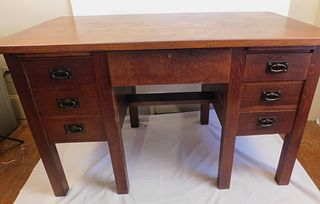 GUSTAV STICKLEY 7 DRAWER DESK