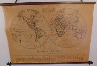 1828 HAND DRAWN MAP BY THOMPSON