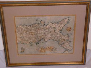 1607 ITALY MAP BY ORTELIUS