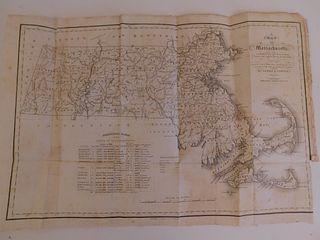 1830 MAP OF MASSACHUSETTS