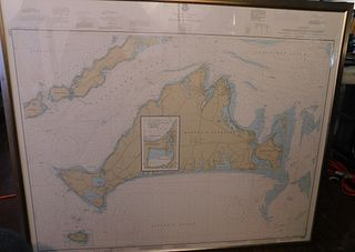 VINTAGE MARTHAS VINEYARD MAP