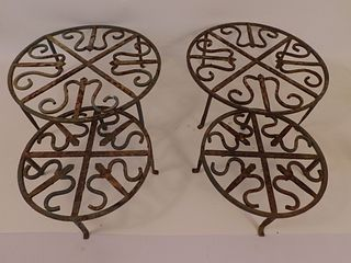4 IRON PLANT STANDS