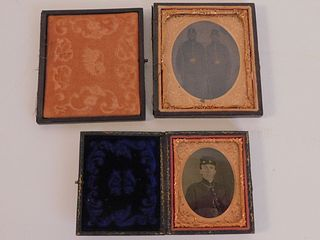 2 UNION SOLDIERS AMBROTYPE PHOTOS