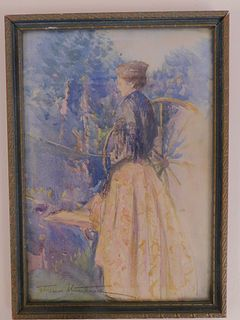 IMPRESSIONIST WATERCOLOR OF A LADY