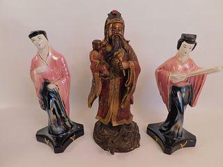 CHINESE BRONZE & ART DECO FIGURINES