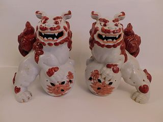 PAIR CHINESE FOO DOGS