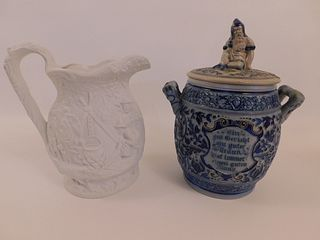 GERMAN POT & PORTMEIRION PITCHER