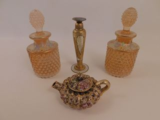 4 ITEMS INCL. COLOGNES & MINI TEAPOT